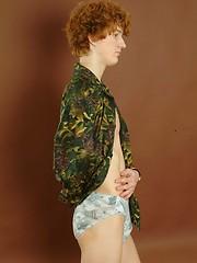 Alex - Smooth redhead twink posing