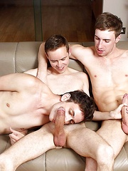 Steven Prior and Kayden Gray Give Nathan Gear Monster Cock DP